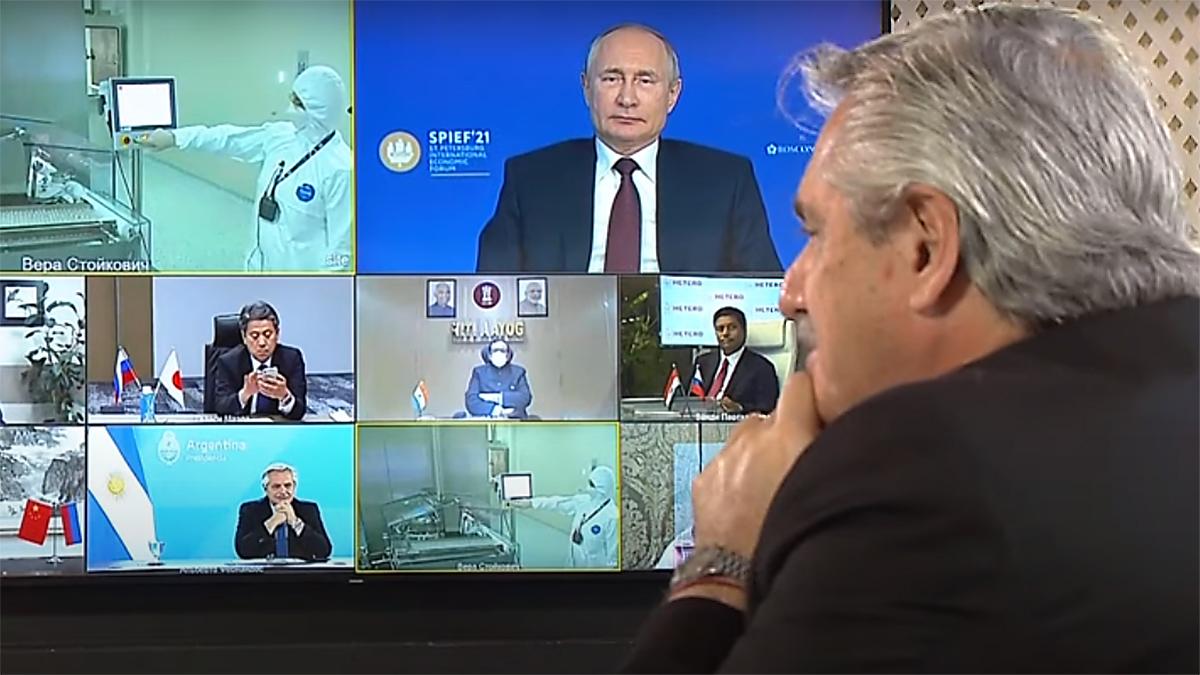 Alberto Fernández y Vladimir Putin anunciaron la producción de Sputnik V en Argentina