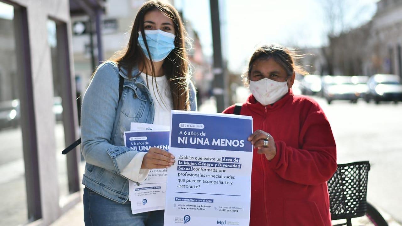 Funcionarias, legisladoras y militantes radicales de Magdalena se sumaron al 6° aniversario de #NiUnaMenos