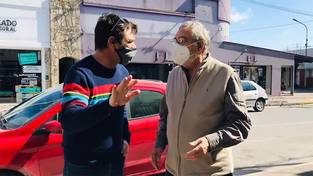 Luis Brandoni visitó Magdalena y respaldó a Gonzalo Peluso en la interna de Juntos