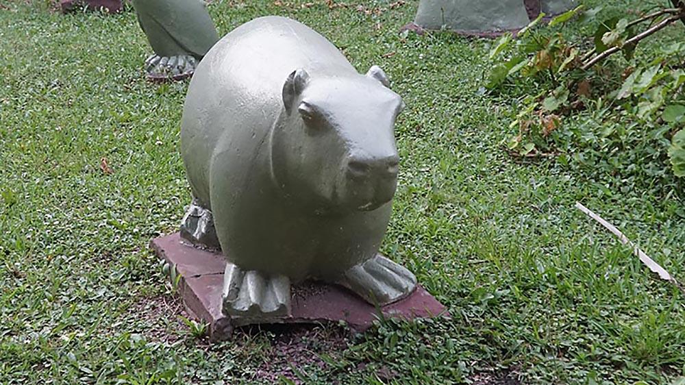 Hay un monumento al Carpincho en Magdalena (y no es un meme)