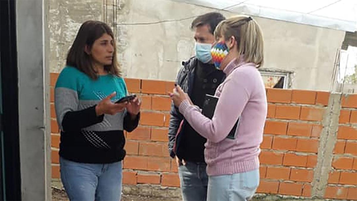 Militantes del FdT difundieron el programa Mi Pieza en barrios populares de Magdalena